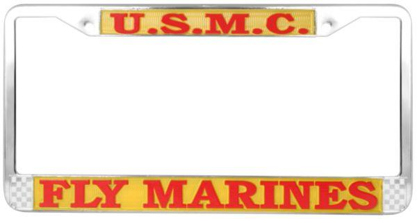 Mitchell Proffit LFCG10 Coast Guard Semper Paratus License Plate Frame U.S Chrome Metal