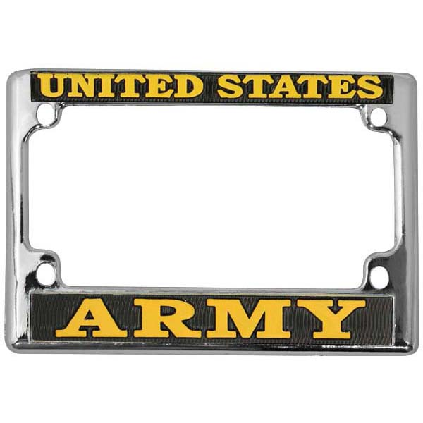 united states army chrome metal motorcycle license plate frame