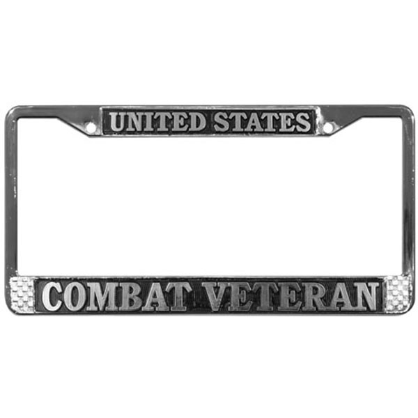 united states combat veteran license plate frame