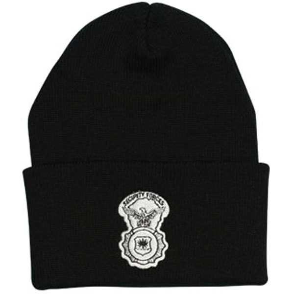 Security Forces Direct Embroidered Black Watch Cap dd9125e78ebb
