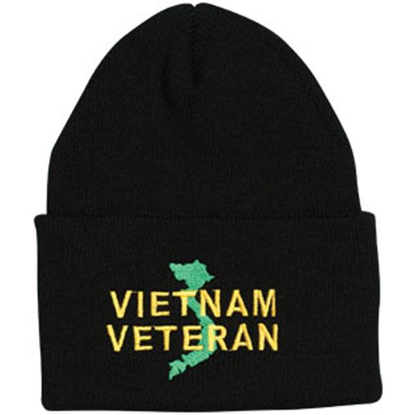 Vietnam Veteran Direct Embroidered Black Watch Cap be6fbf6abb34