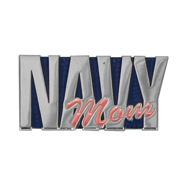 Navy Mom Lapel Pin 1 X 1/2