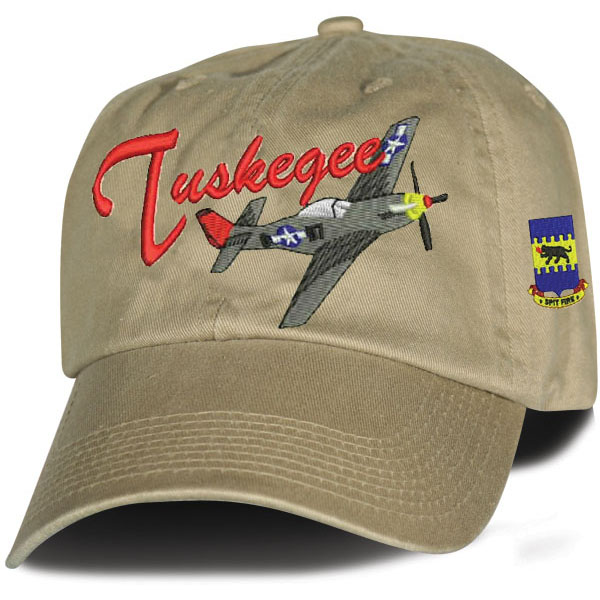 be483a0bc7b038 Tuskegee Airman Direct Embroidered Khaki Ball Cap