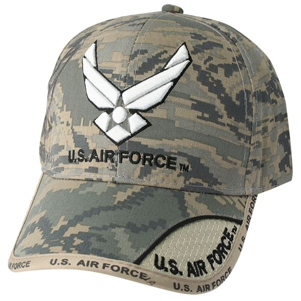 XX11 U.S. Air Force Symbol Logo 3D Emb. on Front and Text emb. On Bill on  ABU Ball Cap 409c7df8a26a
