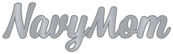 Navy Mom Silver Script Script 1u2033 Lapel Pin