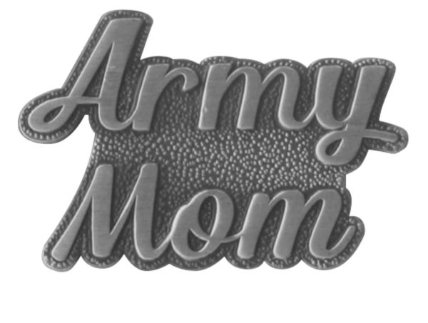 Army Mom Silver Script 1u2033 Lapel Pin
