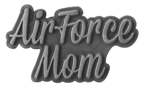 Air Force Mom Silver Script 1u2033 Lapel Pin